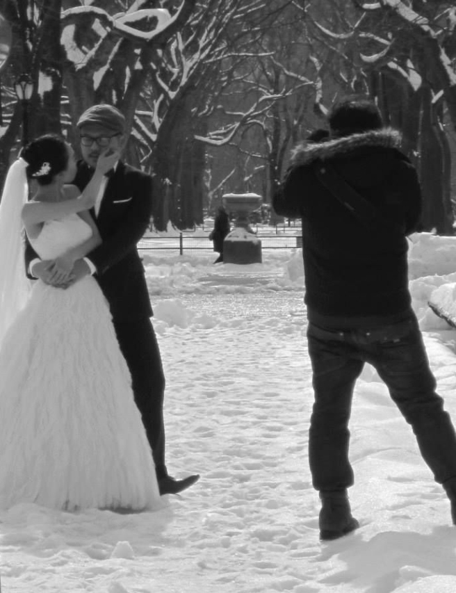 Memory_Winter Wedding_B&W